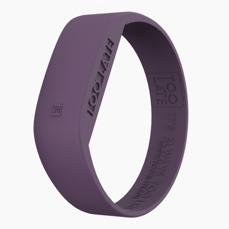 Montre silicone Violet LED - Too Late