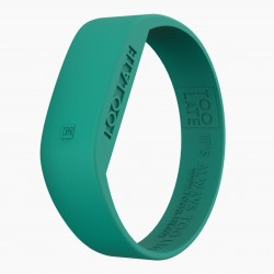 Montre silicone Emerald Green LED - Too Late