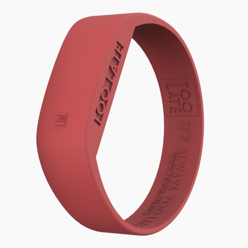 Montre silicone Coral Red LED - Too Late