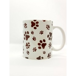 Mug - Empreintes de pattes marron