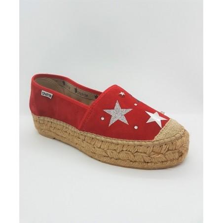 Espadrilles STARS 4601 Rouge - Spartum