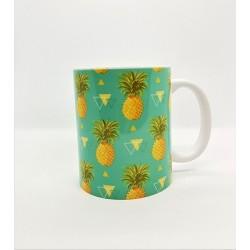 Mug - Ananas fond vert