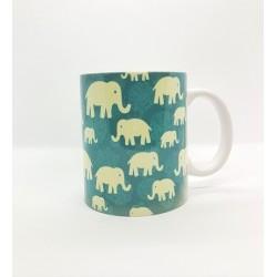 Mug - Eléphants bleu