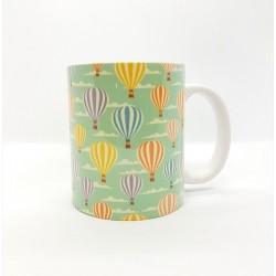 Mug - Montgolfière verte