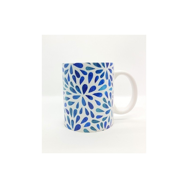 Mug - Pétales bleu