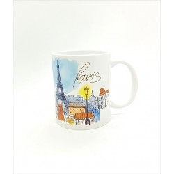 Mug - Paris bleu