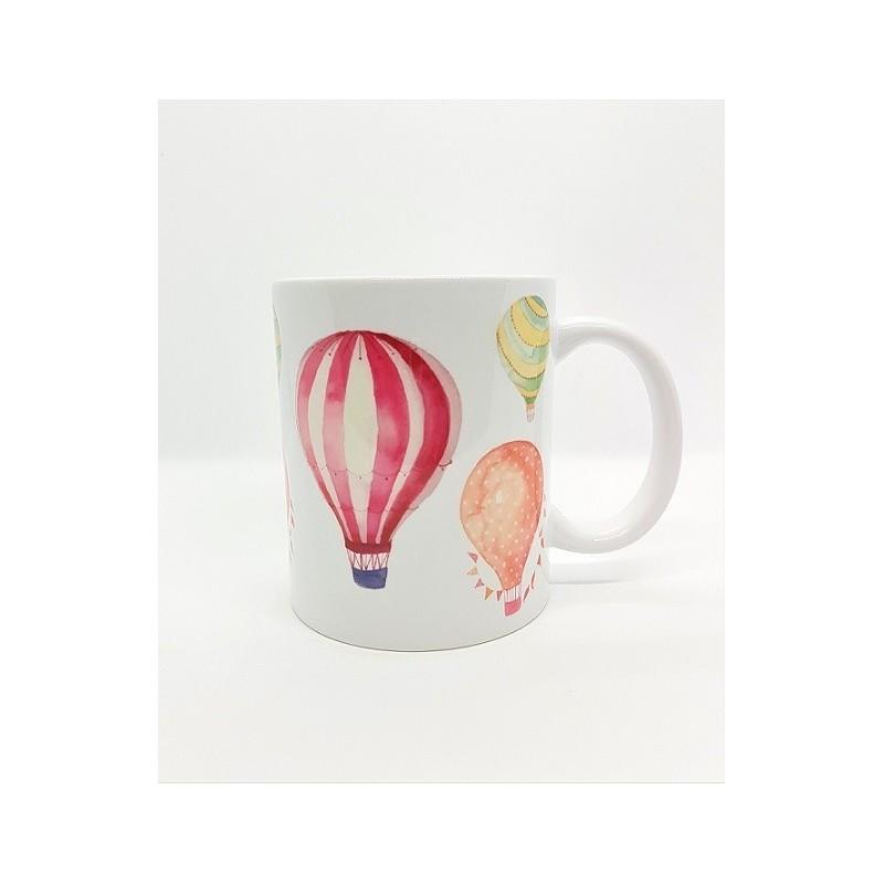 Mug - Montgolfière fond blanc