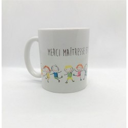 Mug - Mrci Maîtresse et bonnes vacances !
