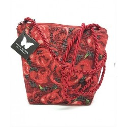 Sac bandoulière ROSES Rouge - Belly Moden