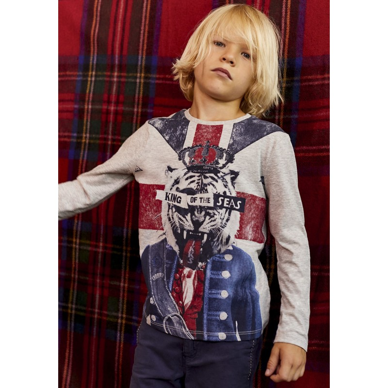 Tee-shirt gris chiné XM10463 - IKKS Junior