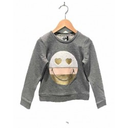 Sweat gris chiné XM15052 - IKKS Junior