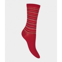 Chaussettes rayures 58169 Rouge - Labonal