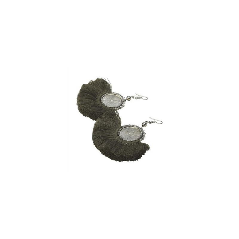 Boucles d'oreilles LENO Vert Kaki - The Moshi