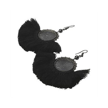 Boucles d'oreilles LENO Noir - The Moshi