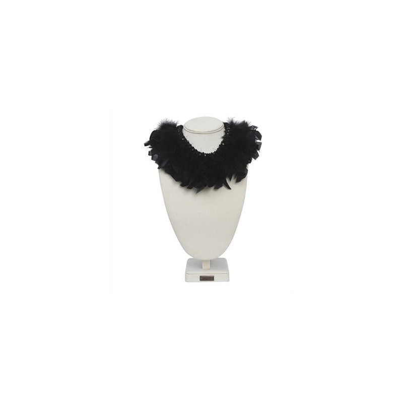 Collier chic plume GARBO Noir - The Moshi