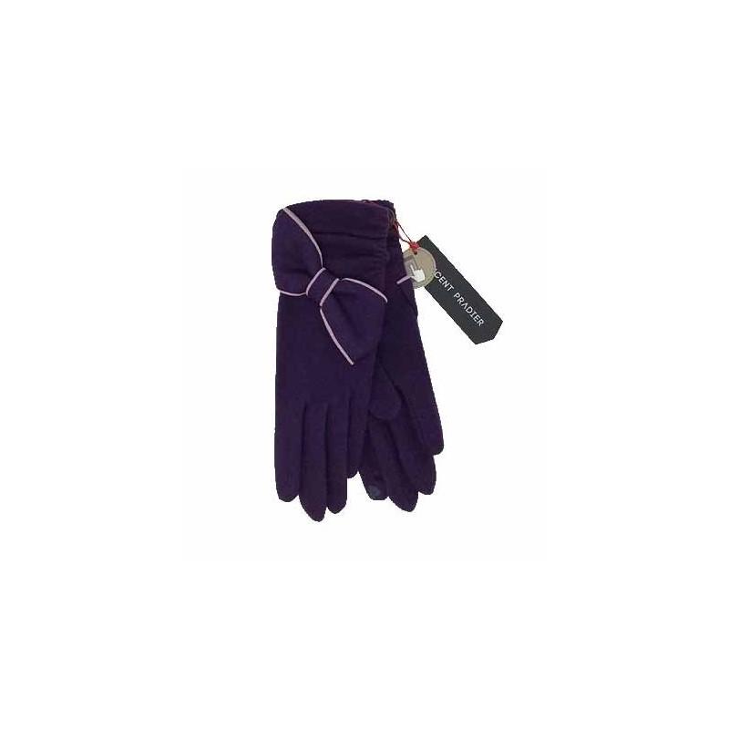 Gants S28165-PTAC Violet - Vincent Pradier