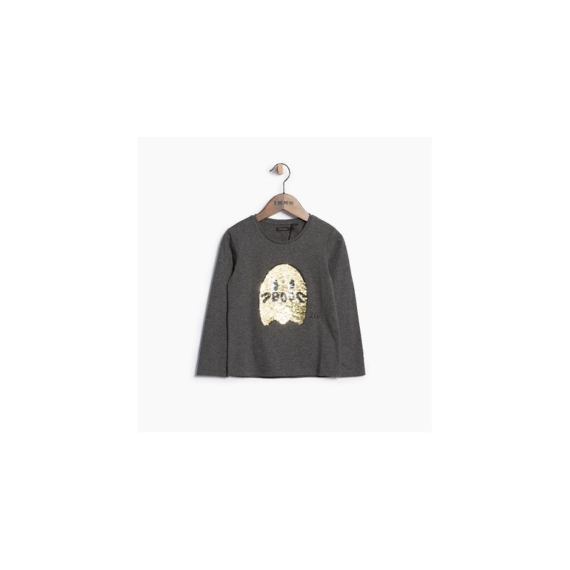 Tee-shirt gris chiné XM10332 - IKKS Junior