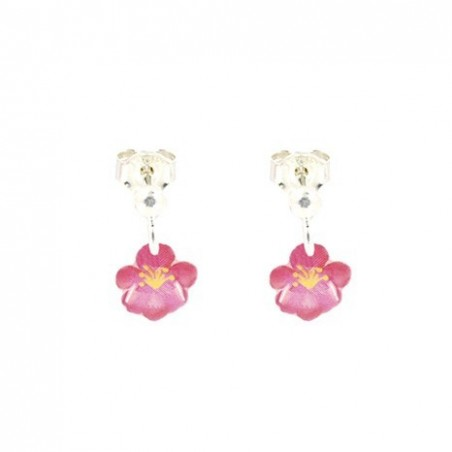 Boucles d'Oreilles pendantes FLEURS - Ribambelle