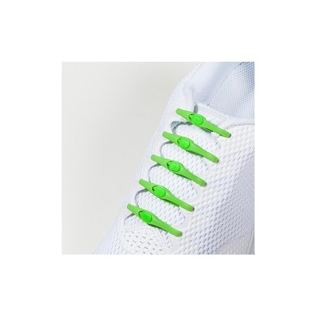 Lacets Silicone Vert - Hickies