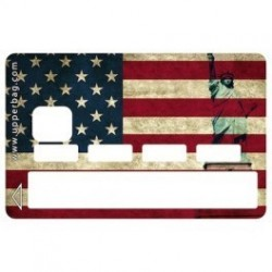 Sticker CB USA Flag Vintage - Upper&Co