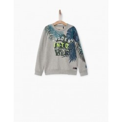 Sweat gris chiné XN15073 - IKKS Junior