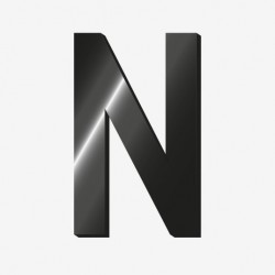 "Lettre adhesive ""N"" - Legami"