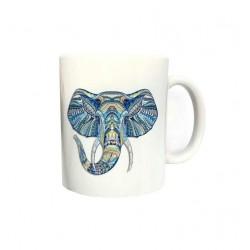 Mug - Eléphant bleu
