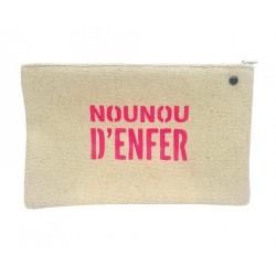 Pochette médium Nounou d'enfer - Lulu en Provence