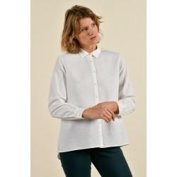 Chemise blanche CASTEL-25258 - Mat de Misaine