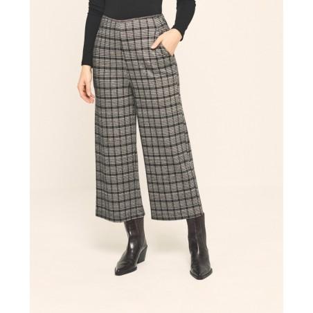 Pantalon imprimé noir TOCA513 - Surkana