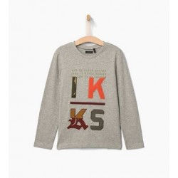 Top gris chiné XP10233 - IKKS Junior