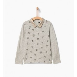 Top gris chiné XP10212 - IKKS Junior