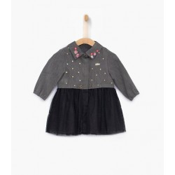 Robe bi matière XP30110 - IKKS Junior
