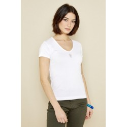 T-shirt blanc DTS060 - Diplodocus