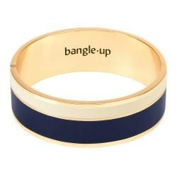 Bracelet Vaporetto Bleu Nuit/Blanc Sable de bangle up