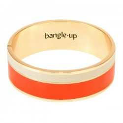 Bracelet Vaporetto Tangerine/Blanc Sable de bangle up