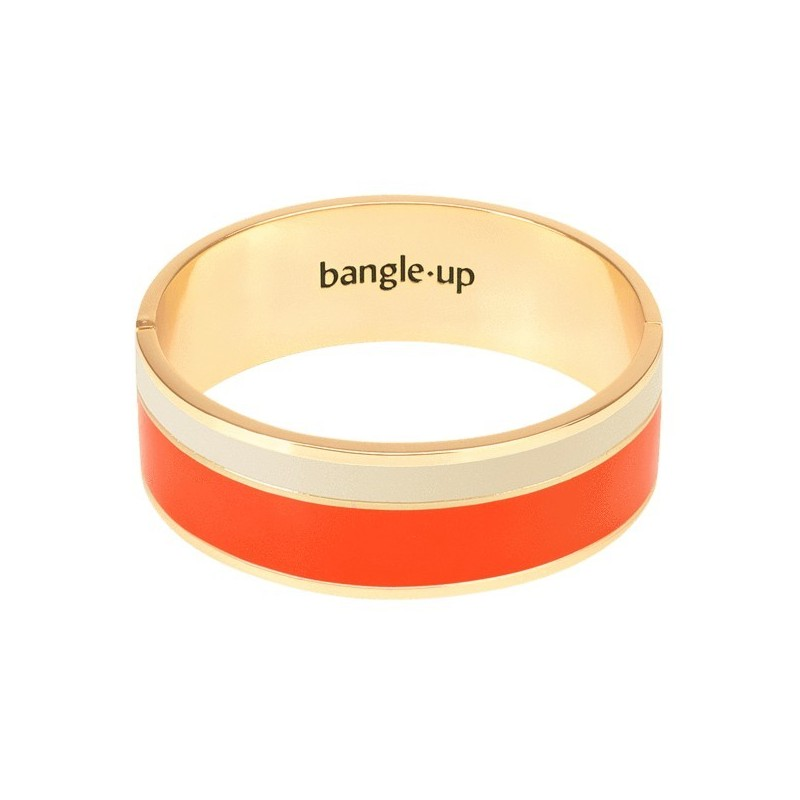 Bracelet Vaporetto Tangerine/Blanc Sable de bangle up