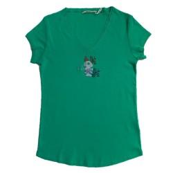 T-shirt vert Jet DTS068 - Diplodocus