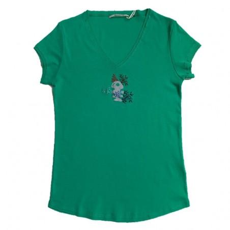 T-shirt vert DTS068 - Diplodocus