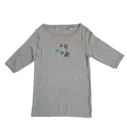 T-shirt gris chiné DTS067 - Diplodocus