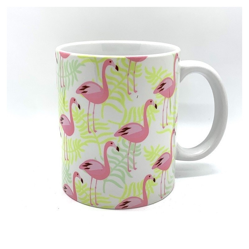 Jaines_Mug_Flamant-Rose-Flamingo-fond vert