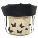 Vide poche en lin Papillons Beige- L'Atelier de la Varangue