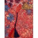 Foulard à pompons rouge AC115 - C'est Beau la Vie