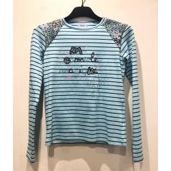 T-shirt bleu MARIANA - Coudemail