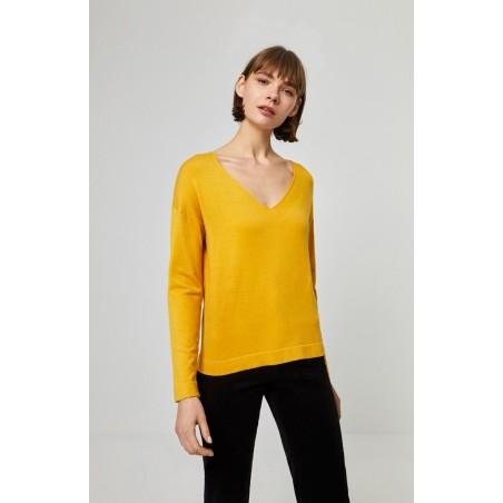 Pull uni jaune UTTI237 - Surkana