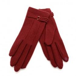 Gants tactiles BOUCLE Rouge - Vincent Pradier
