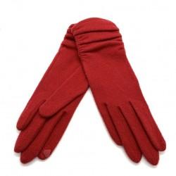 Gants tactiles DRAPES Rouge - Vincent Pradier