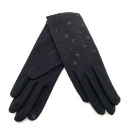 Gants tactiles ETOILES Noir - Vincent Pradier