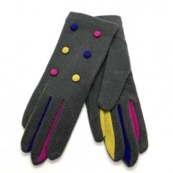 Gants tactiles BOUTONS Multi - Vincent Pradier
