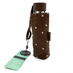 Parapluie pois chocolat 3598 - Clima Bisetti